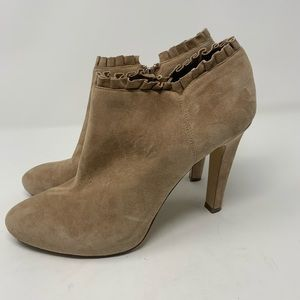 Banana Republic suede heeled booties size 10M